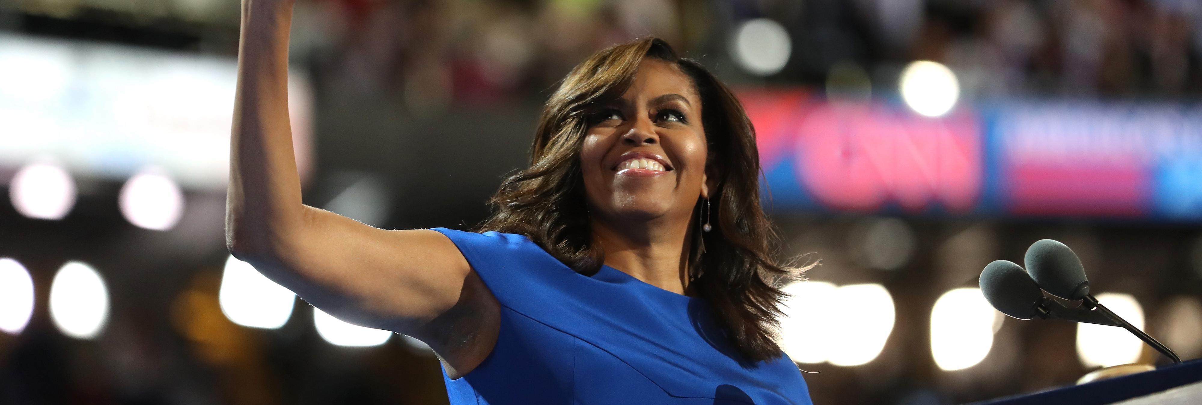 Los estadounidenses están pidiendo que Michelle Obama se presente a Presidenta tras su último discurso