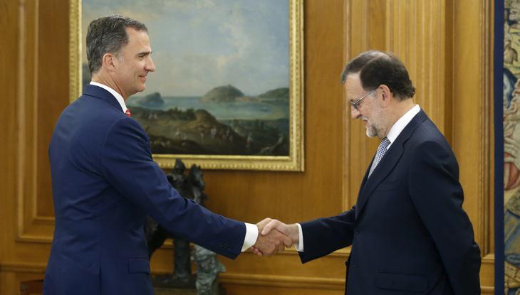 Rajoy con Felipe VI