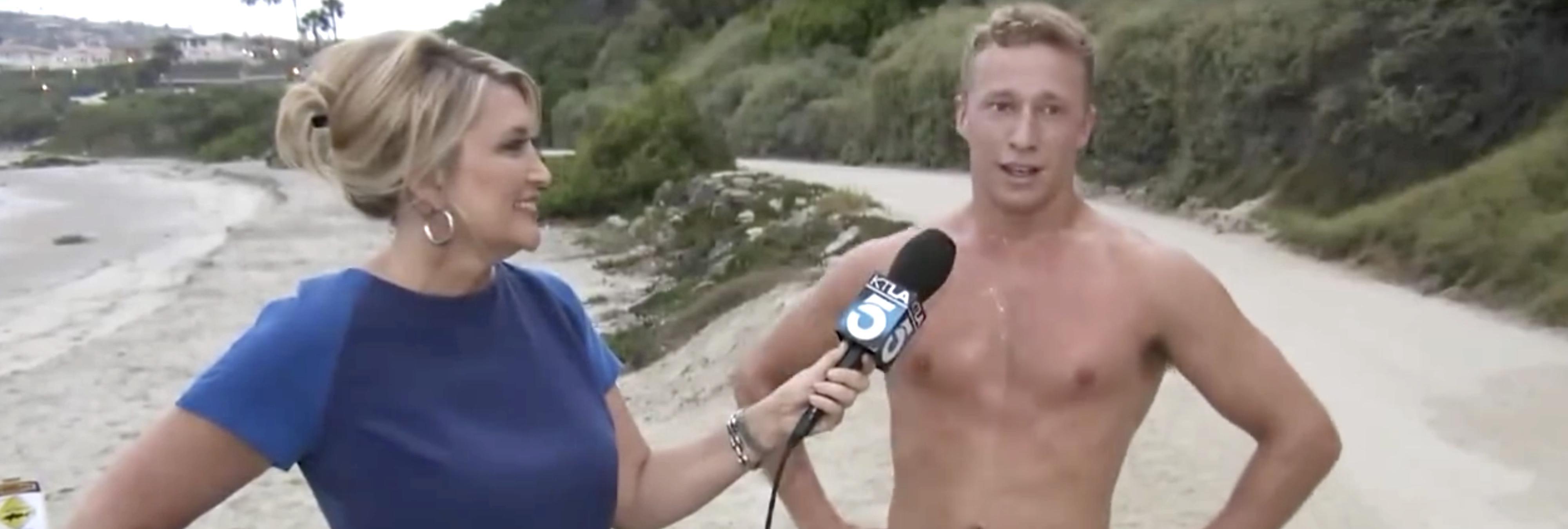 Todos somos Wendy, la reportera que corrió detrás de un buenorro en directo