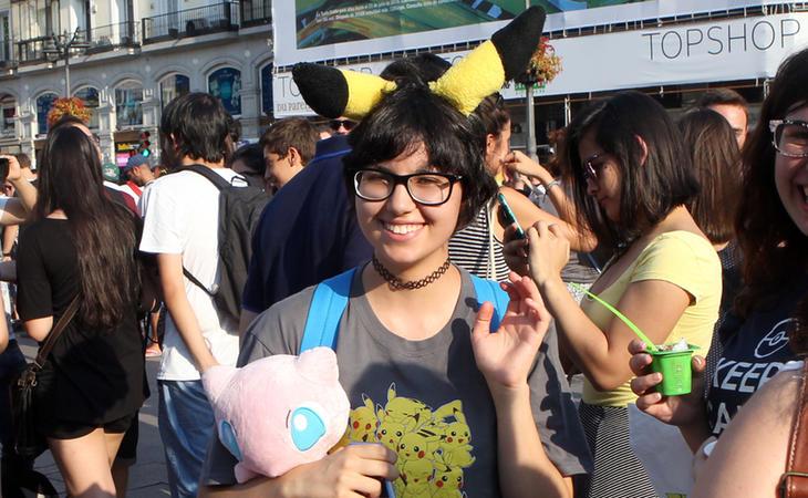 Una de las asistentes a la PokéQuedada de Madrid
