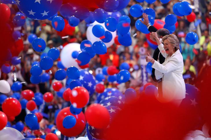 Hillary Clinton al cierre de la Convención Demócrata