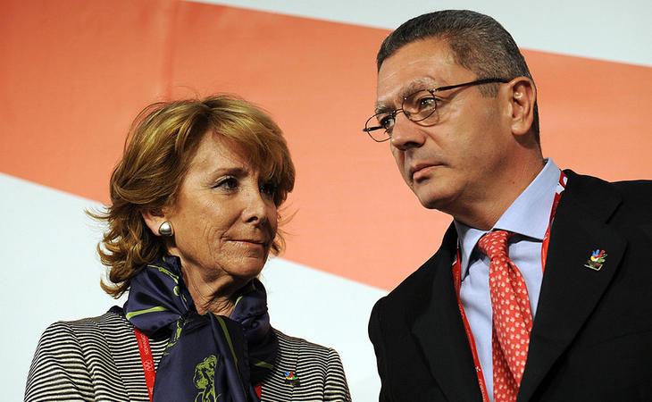 Aguirre y Gallardón presentando la candidatura madrileña en 2009