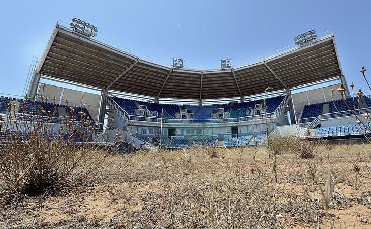 Uno de los estadios olímpicos de Atenas, diez años después