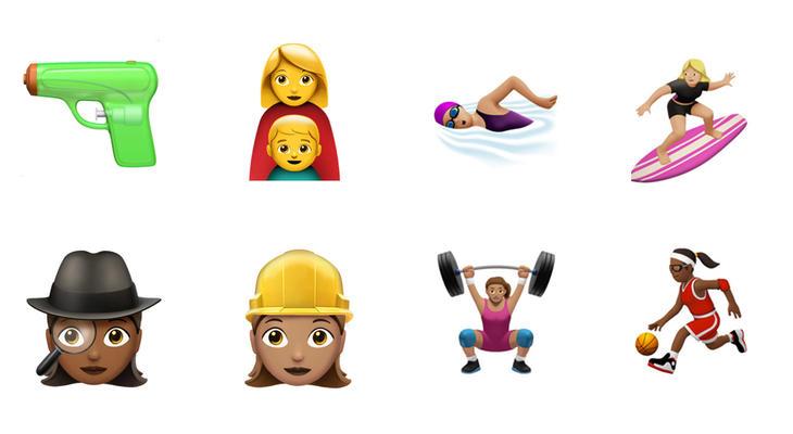 Algunos de los nuevos emojis