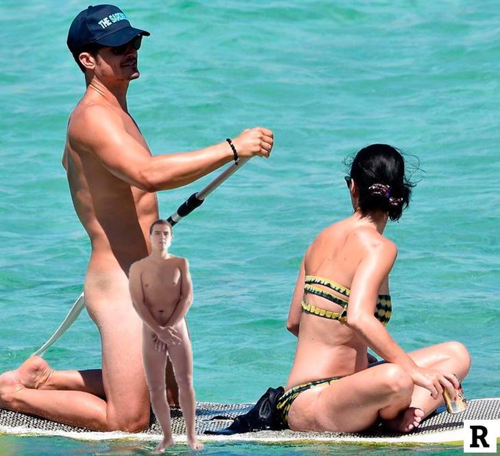 Albert Rivera desnudo tapando a Orlando Bloom desnudo