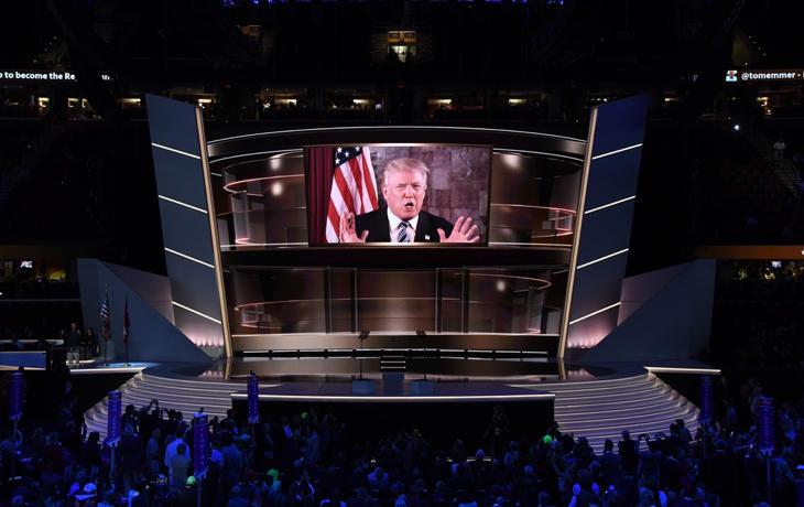Donald Trump en la Convención Republicana