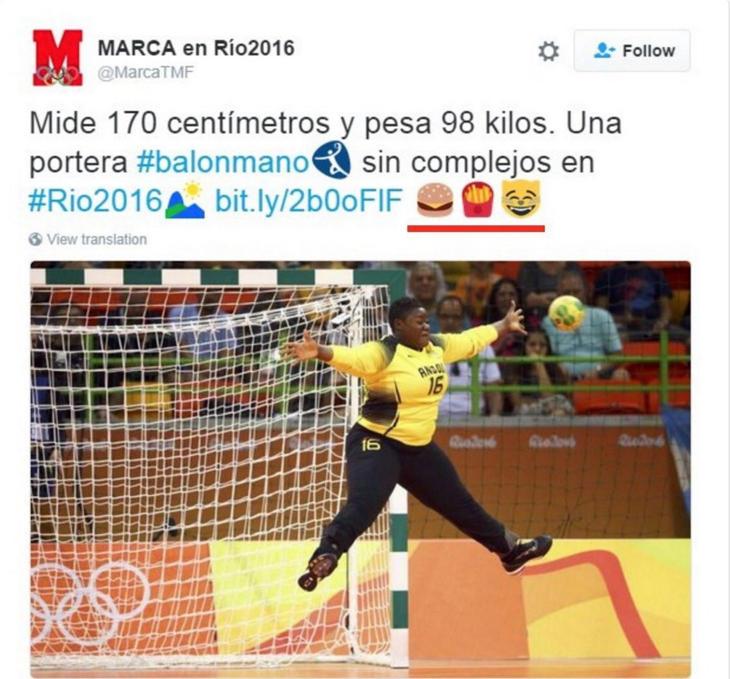 Tweet de Marca borrado minutos después (Twitter)
