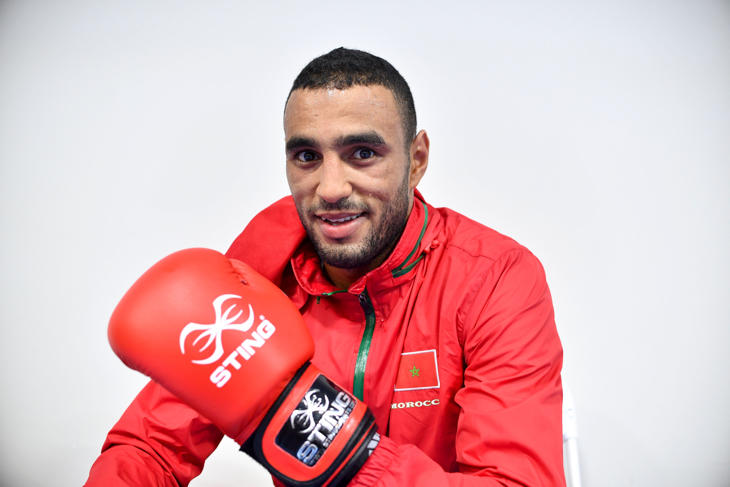 El boxeador Hassan Saada, de Marruecos