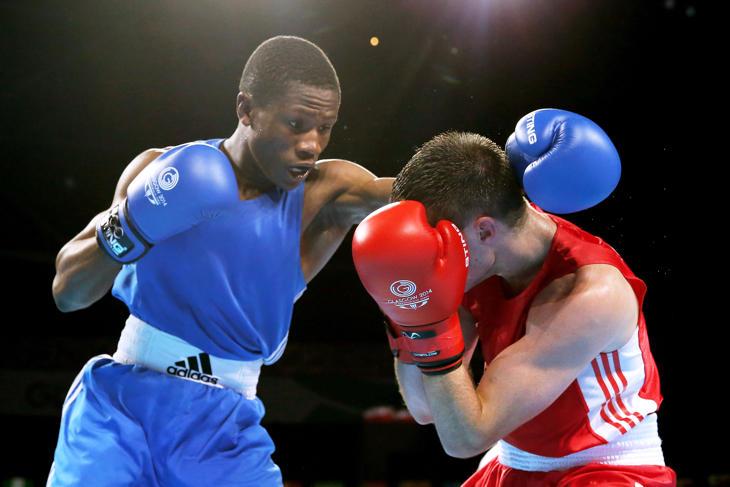 Jonas Junias, boxeador de Namibia y abanderado