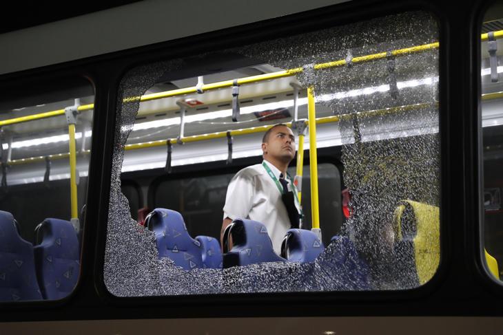 El bus de Río siniestrado