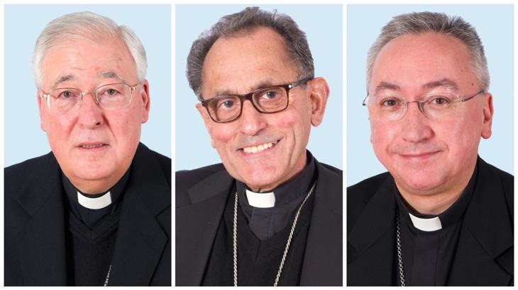 Los obispos de Alcalá de Henares y Getafe en la izquierda de la foto
