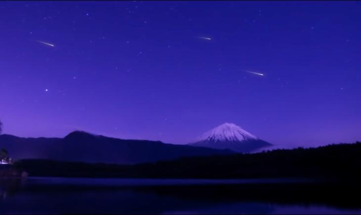 Representación de como serían las estrellas fugaces artificiales (Star-ALE)