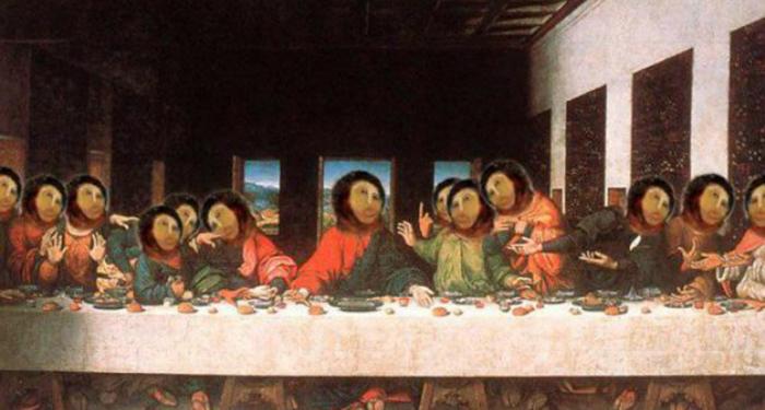 Meme de 'La Última Cena' si Cecilia decidiera restaurarla