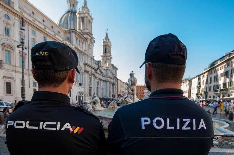 Los cuatro policías romanos se han convertido en hérores