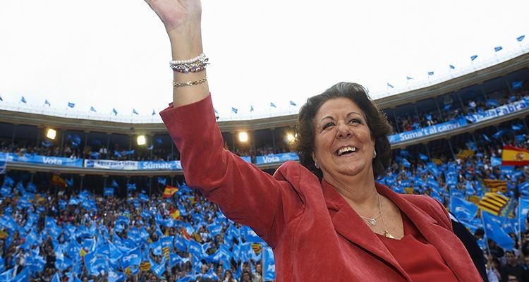 Rita Barberá en un mitin del PP
