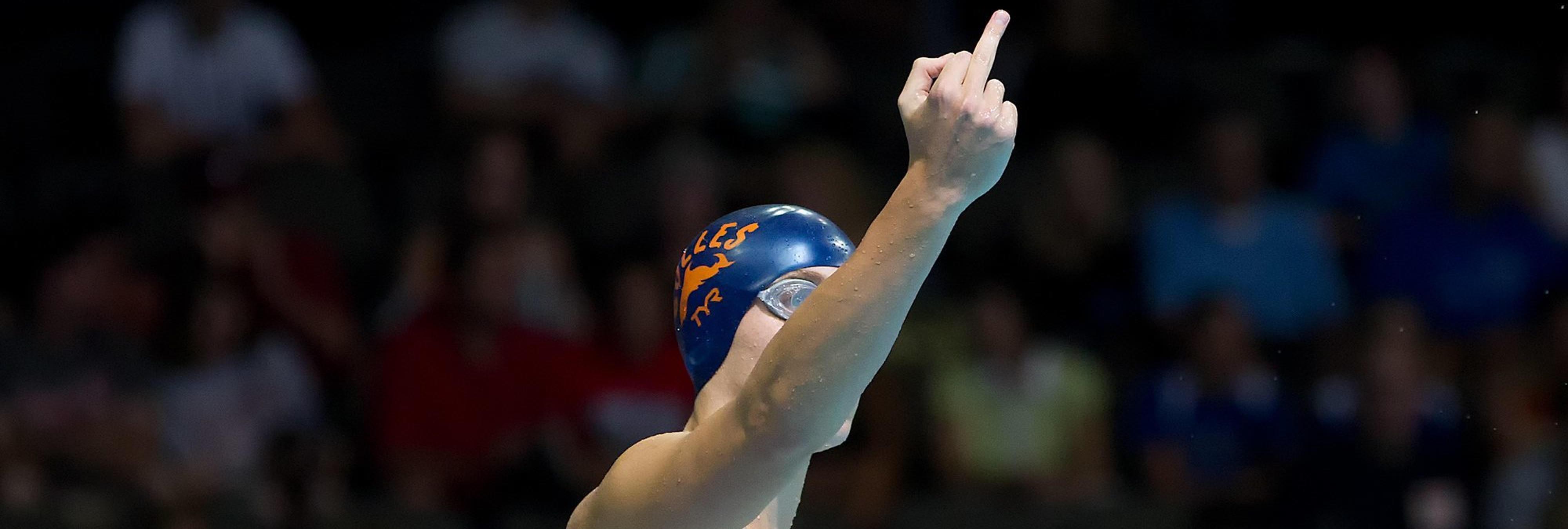 El nadador olímpico de Río 2016 que dedica una peineta antes de tirarse a la piscina