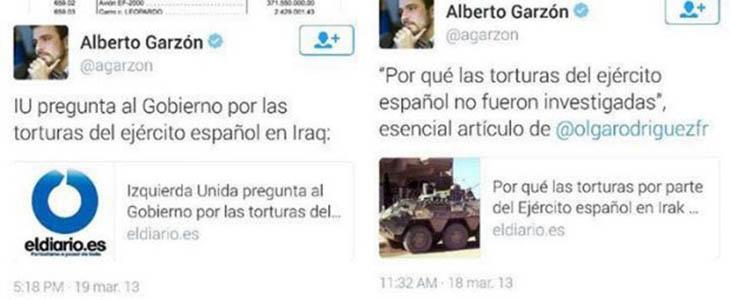Posibles tweets que pudieran haberle costado el bloqueo a Garzón