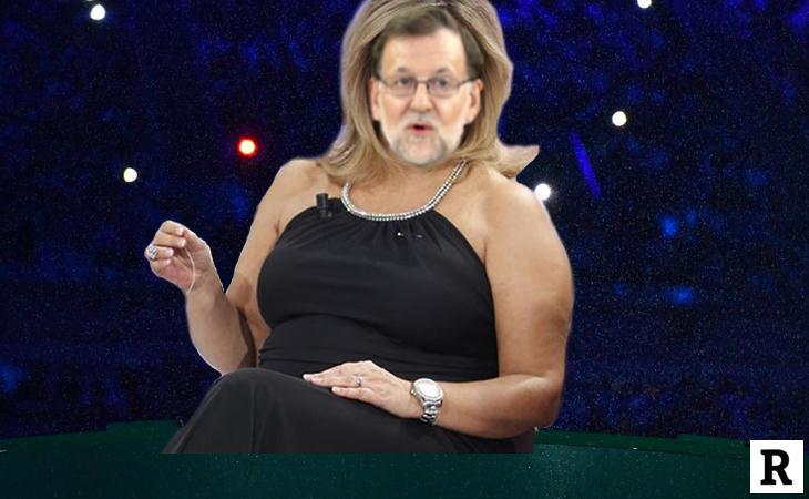 Rajoy disfrazado de Terelu Campos en '¡Qué tiempo tan feliz!'