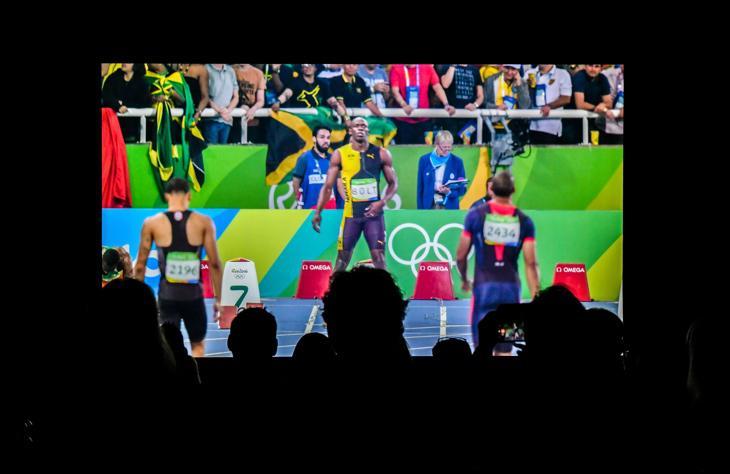 La última prueba de Bolt en Río 2016 en una televisión de 8K