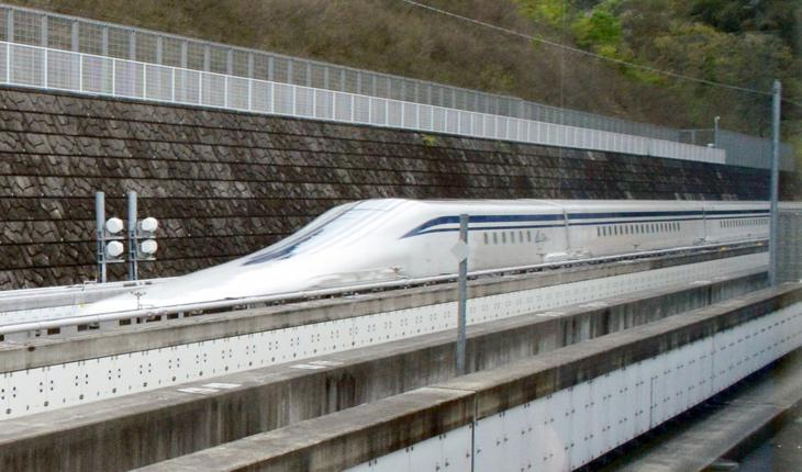 Un tren de levitación magnética a alta velocidad en Japón