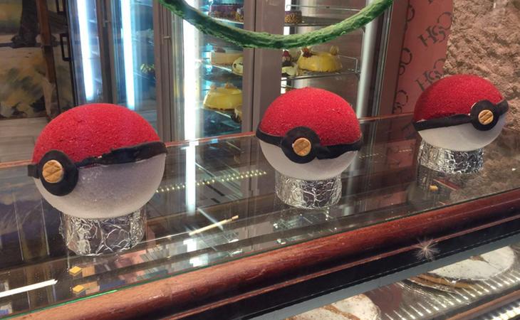 Poké Ball en una pastelería de Madrid