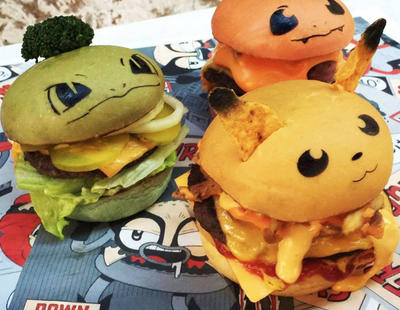 Una hamburguesería lanza PokéBurgers de Pikachu, Charmander y Bulbasaur