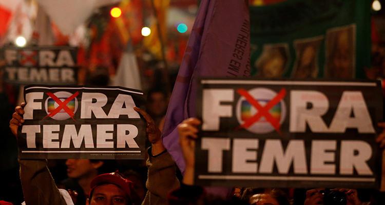 Manifestación contra Temer