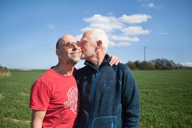 Jens y Hans, la pareja de daneses que llevan 34 años juntos