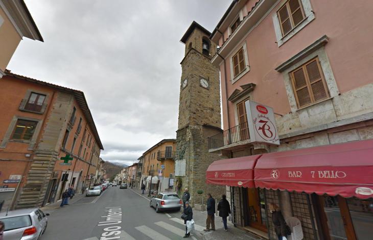 La torre de la iglesia no tenía otros edificios alrededor
