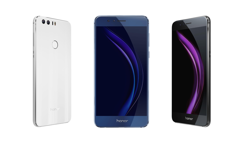 El Honor 8 viene en tres colores.