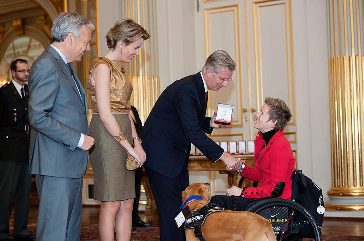Marieke fue recibida por los reyes de Bélgica