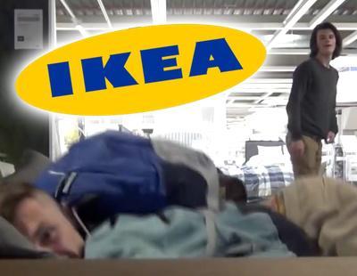 ¿Realidad o anuncio viral? Dos youtubers pasan la noche en Ikea sin que les pillen