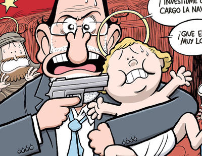 Rajoy pone al niño Jesús una pistola en la cabeza en la última portada de El Jueves