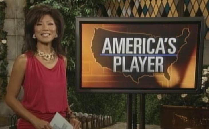 La presentadora de 'BB USA', Julie Chen, explicando el America's Player