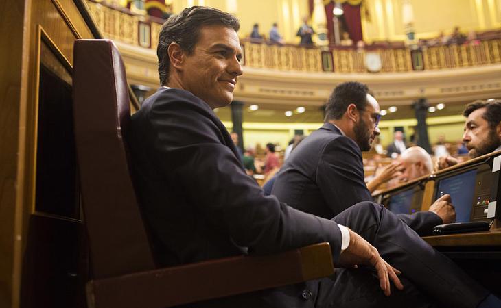 Pese a no ser el candidato a la investidura, Sánchez fue el protagonista de todas las intervenciones
