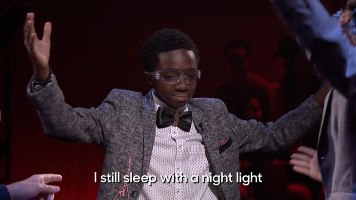 Caleb McLaughlin aún duerme con la luz encendida
