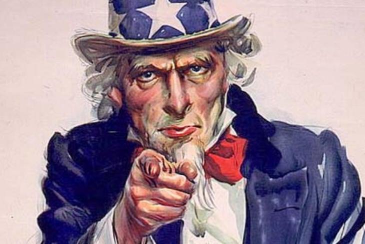 La imagen más famosa del Tío Sam, creada por James Montgomery Flagg