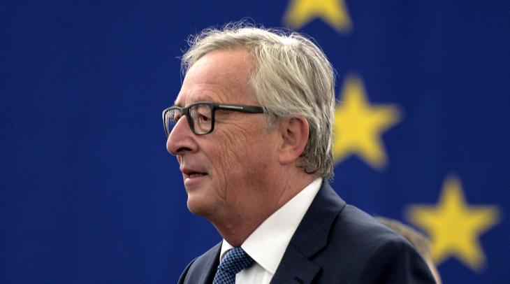 Juncker durante su discurso en la Sesión del Estado de la UE