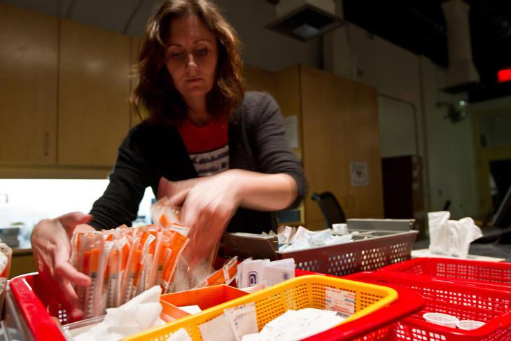 Una trabajadora de la clínica Insite de Vancouver