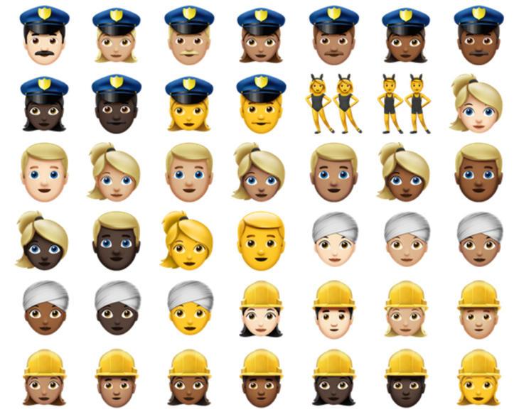 Los nuevos emojis de iOS 10 apuestan por la diversidad