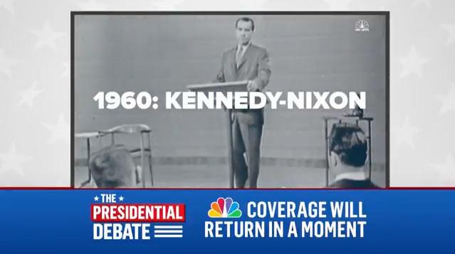 Se les ha colado en la NBC una imagen del último debate organizado por TVE...
