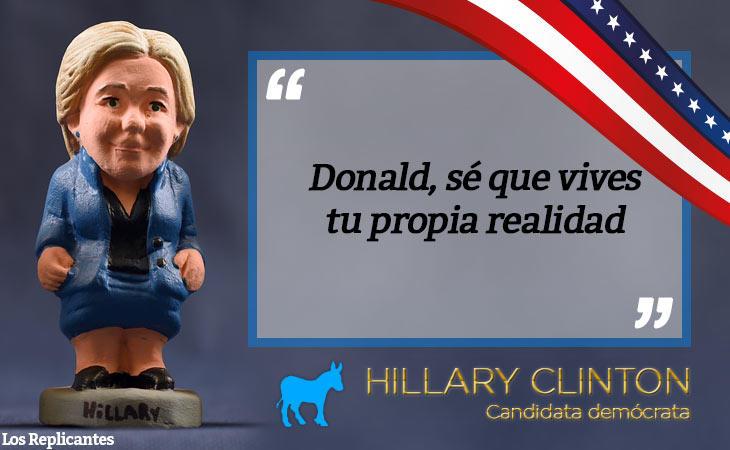 A Hillary le gusta llamar 'Donald' a Trump