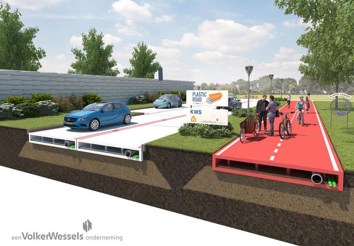 Las carreteras de plástico facilitan la instalación de cableado