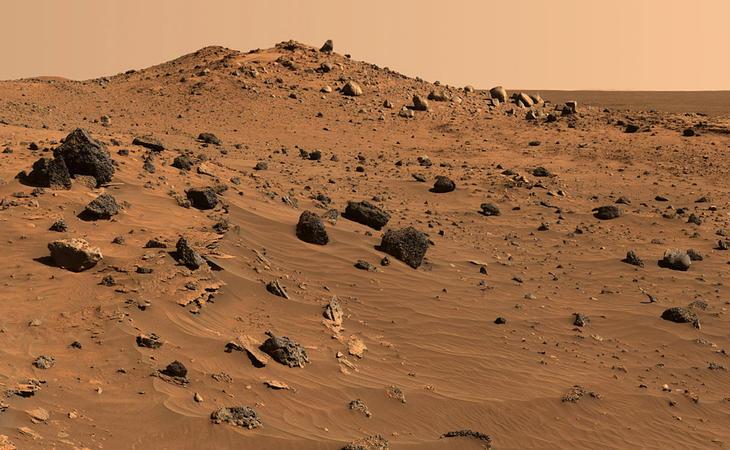 Superficie de Marte en una foto de la NASA