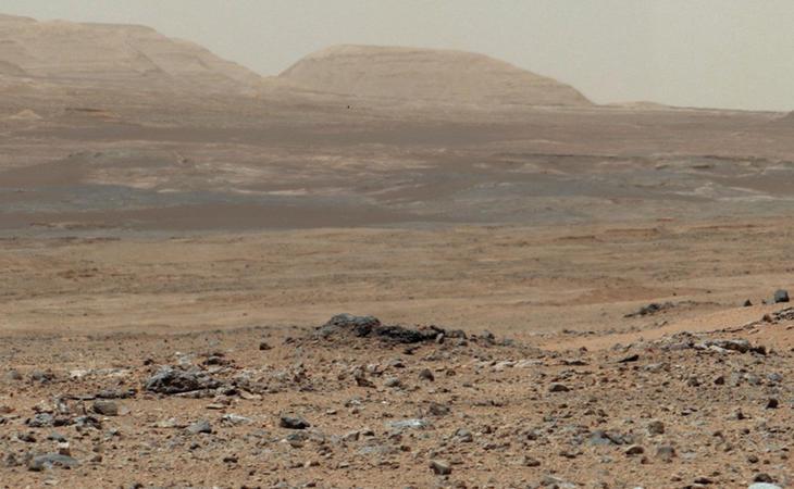 Foto enviada por el robot Curiosity desde Marte (NASA)
