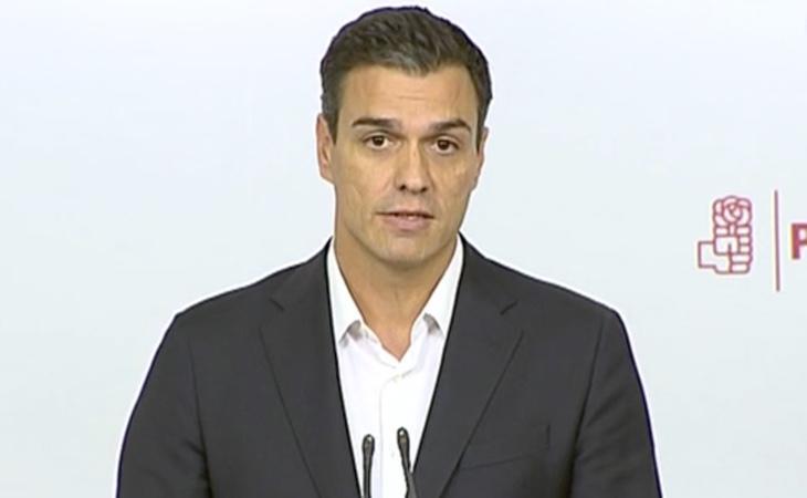 Pedro Sánchez comparece en Ferraz