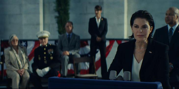 Sela Ward es la presidenta de EE.UU. en la secuela de 'Independence Day'.