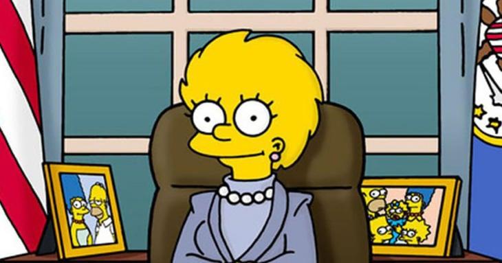 Lisa Simpson. futura presidenta de los Estados Unidos de America.
