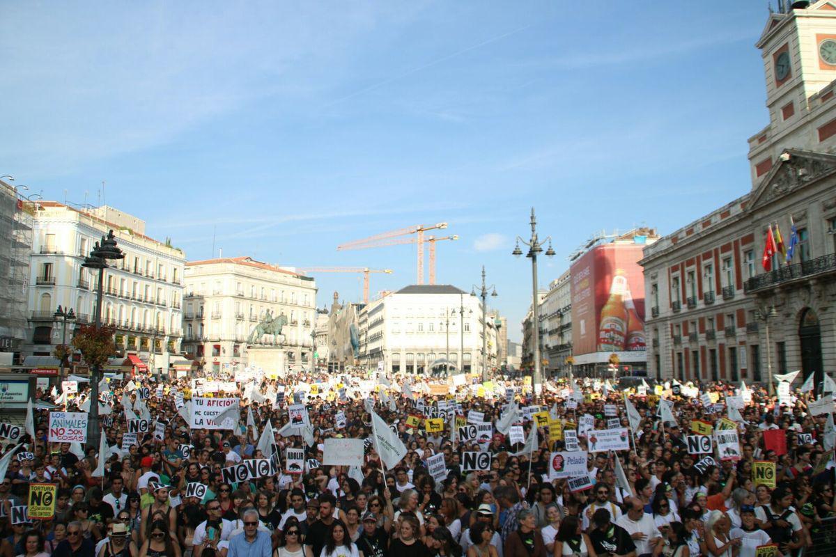 Así protestaba Madrid hace unas semanas