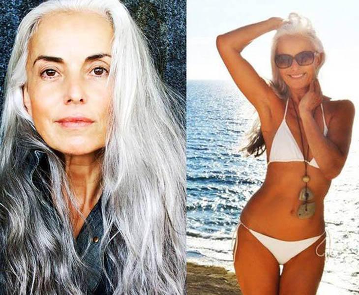 Yazemeenah Rossi, modelo de sesenta años